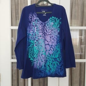 Just My Size Long Sleeve Graphic T-Shirt      A270